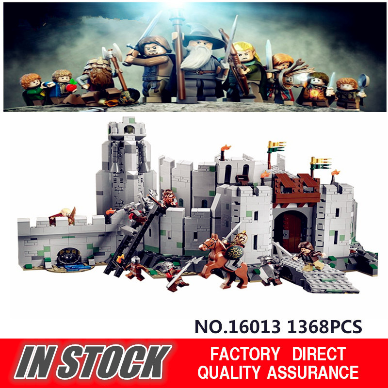 ФОТО IN STOCK 2017 New Lepin 16013 The Lord of the Rings Series The Battle Of Helm' Deep Model Building Blocks Bricks  Toys
