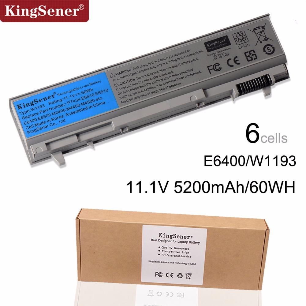 KingSener Korea Cell New W1193 Battery For DELL Latitude E6400 E6410 E6500 E6510 M4400 M6400 PT434 PT436 PT437 KY265 KY266 KY268