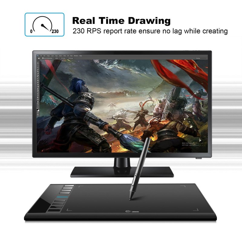 Digital drawing Tablets 10x6 Inch Ugee M708 graphics tablet for painting 10 6 Inch with Wireless