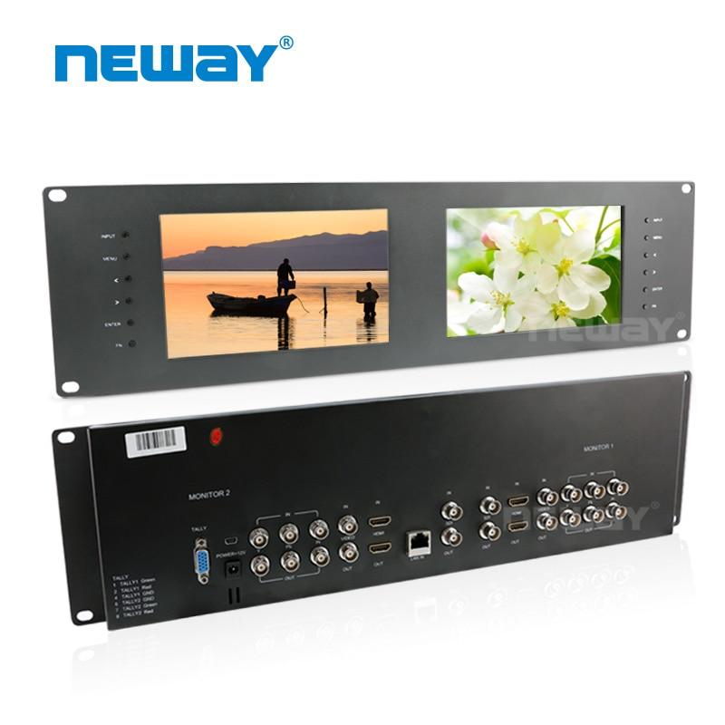 Neway RM70S 3G-SDI 7 Inç Dual Rack Mount Monitor Monitorimi i - Kamera dhe foto - Foto 1