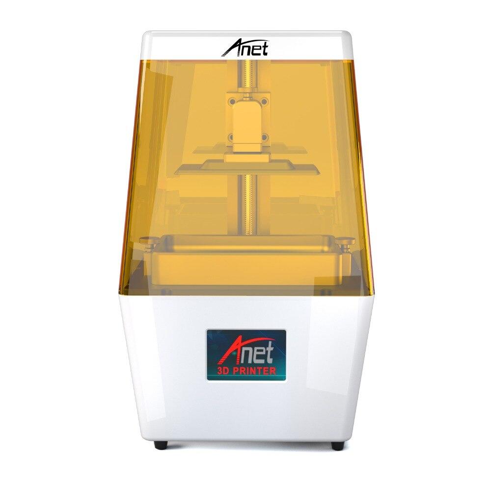 Anet N4 UV LCD 3D imprimante 40um Ultra haute précision taille d'impression 120*65*138mm avec 3.5 ''Smart tactile couleur écran USB hors ligne