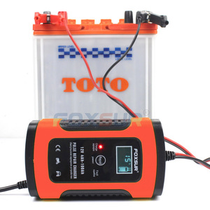 Image 3 - FOXSUR 12V Motorcycle & Car Automatic Intelligent Battery Charger, EFB AGM GEL Pulse Repair Battery Charger with LCD Display