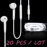 20 pcs / lot For S6 Earphone in-ear earpiece with microphone for MP3 MP4 Samsung Galaxy S6 S4 S3 S2 S7 Edge Note 2 Earphones