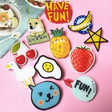 Fashion Kawaii Anime Multi Style Clothes Acrylic Badges Pins For Clothes Icon Decorating Badge Backpack Pin Button(China)