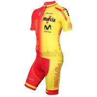 Yeni Bisiklet Jersey Kısa Kollu ve önlük şort Roupa Ciclismo Takım İspanya Giyim maillot ciclismo Bisiklet Jersey Tam fermuar