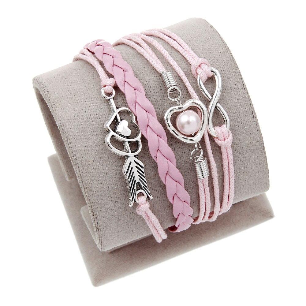 Vintage Braided Lion Bracelets Birds Fox Owl Love Best Friends Charm  Bracelets For Women & Man Heart Jewelry Leather Bracelet