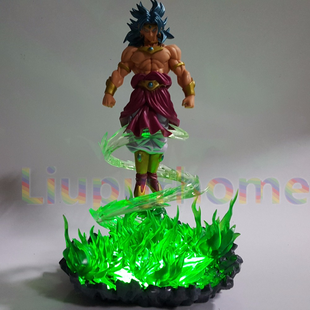 Led Lamps Dragon Ball Z Broly Led Light Green Fire Power Base Dragon Ball Super Action Figure Dbz Broly Broli Decor Light Christmas Gifts Discounts Sale Led Night Lights
