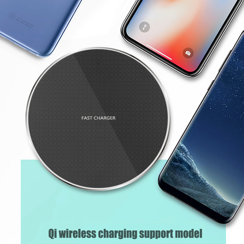 New Qi 10W Wireless Fast Charger Pad For Samsung S9 S10 Huawei iPhone XS Max Mater Quick Phone Wireless Charging Bracket Adapter