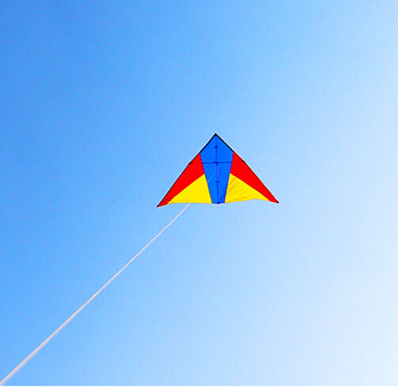 free shipping high quality new 2.6m delta kite parachute nylon ripstop choose like colors with handle line outdoortoys
