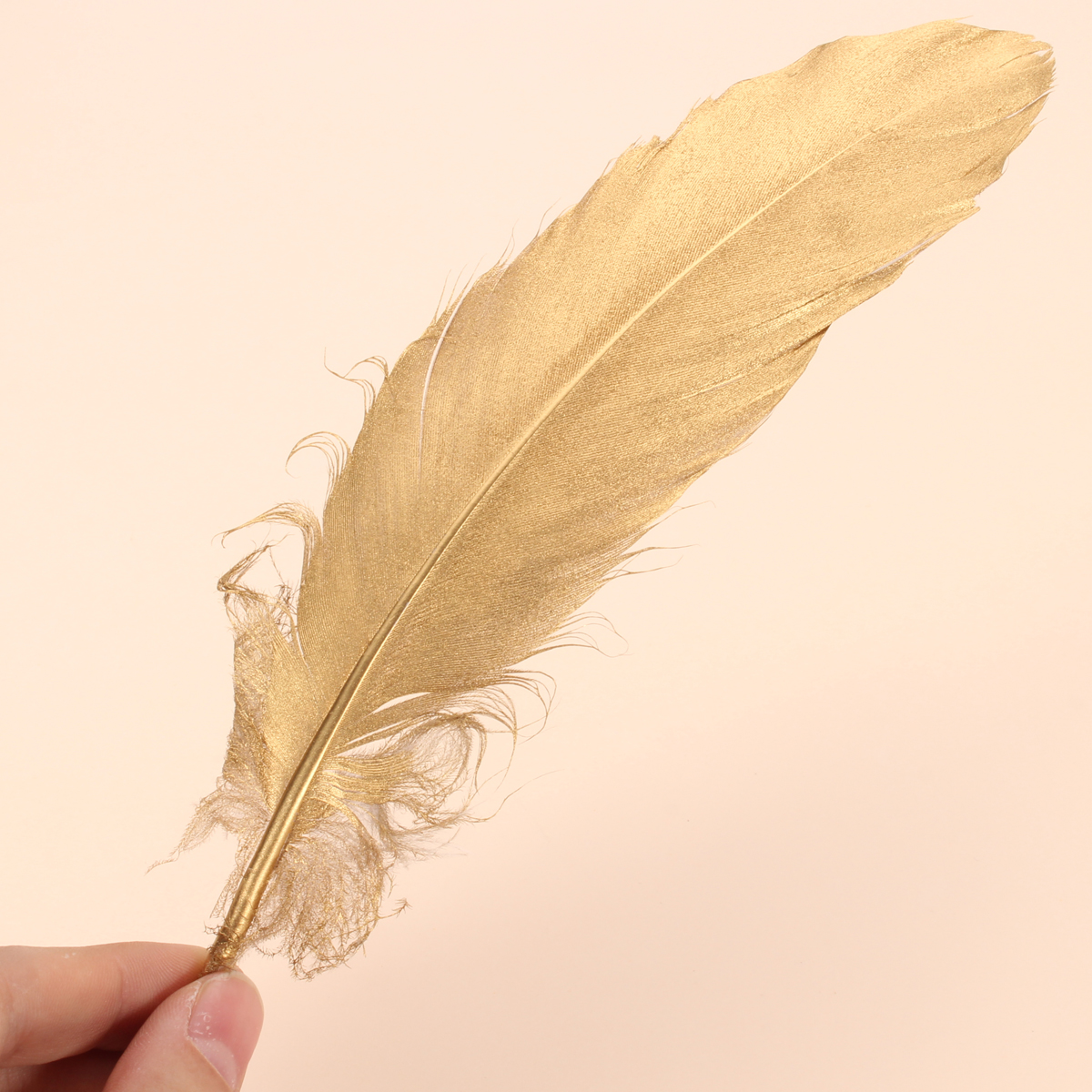 100PCS/Lot Natural Goose Feathers Ornaments Multi-Purpose DIY Crafts Birthday Christmas Wedding Decoration Party Favors Gold