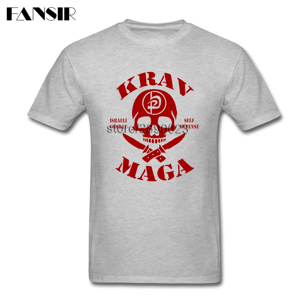 Swag <font><b>T</b></font> <font><b>Shirts</b></font> Men <font><b>Israel</b></font> krav Maga Skull Men <font><b>T</b></font> <font><b>Shirts</b></font> Custom Cotton Short Sleeve Guys Clothes Tops image