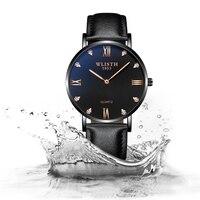 Men's Fashion Quartz Watch Luxury Elegant Thin Watch Unique Casual Waterproof Clock Mesh Band PU Leather Buckle Mens Gift
