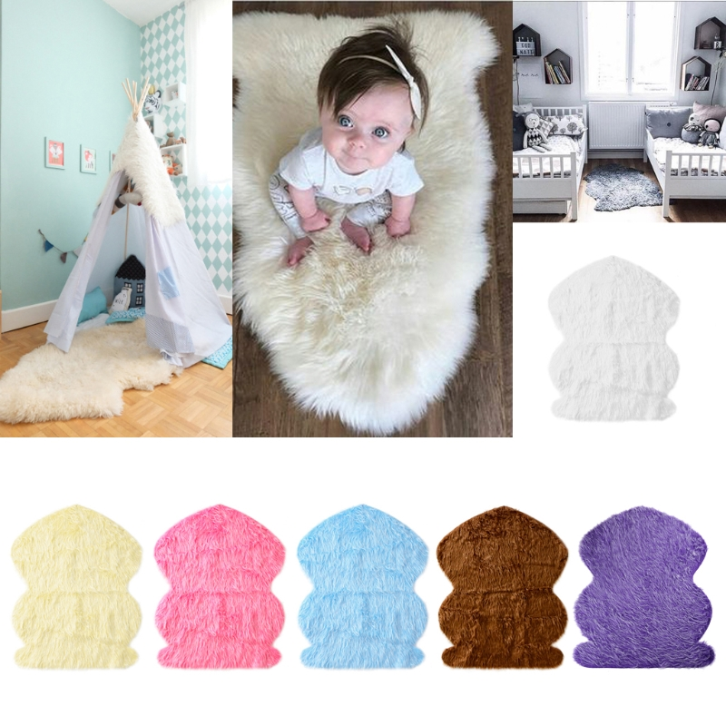 95X76CM Newborn Photography Props Faux Fur Cotton Stuffe Background Baby Photo Soft Blanket -M35