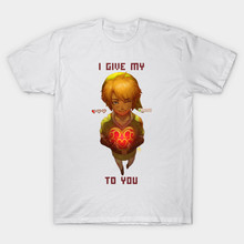 2017 Newest Game The Legend of Zelda Men T Shirt I Give My Heart To You Zelda Printing T-Shirt Camisetas Tees Short Sleeve Tops