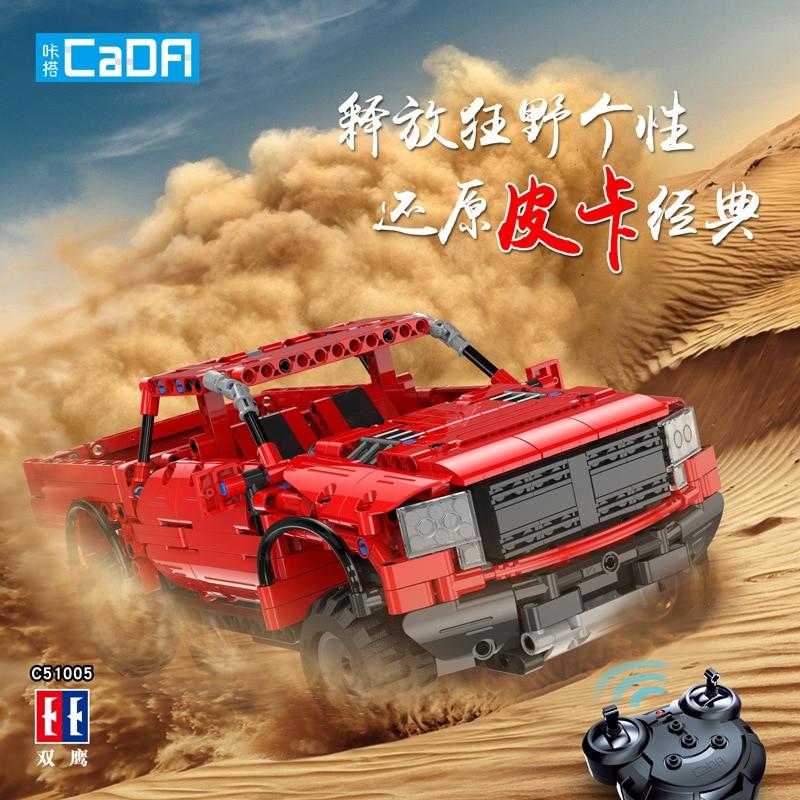 549 PCS CaDA Building Cad Blocks Car Pickup trucks C51005 Model DIY RC Building Block Toy