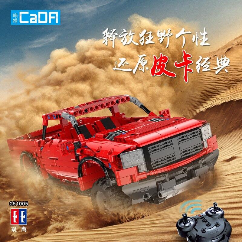 Oyuncaklar ve Hobi Ürünleri'ten Bloklar'de 549 ADET CaDA Yapı Cad Blokları Araba kamyonet C51005 Modeli DIY RC Yapı Taşı Oyuncak Araba Hediye'da  Grup 1