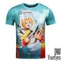 Youreyes Summer tops tees men/boy t-shirt funny print cute cat 3d t shirt animals fashion short sleeve tshirts g1601