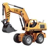 HELIWAY 1:12 Original Rc Escavadeira Caminhão Engenharia Brinquedo Flash de Controle de Fio de Controle Remoto Elétrico Modelo de Caminhão Veículo Brinquedos