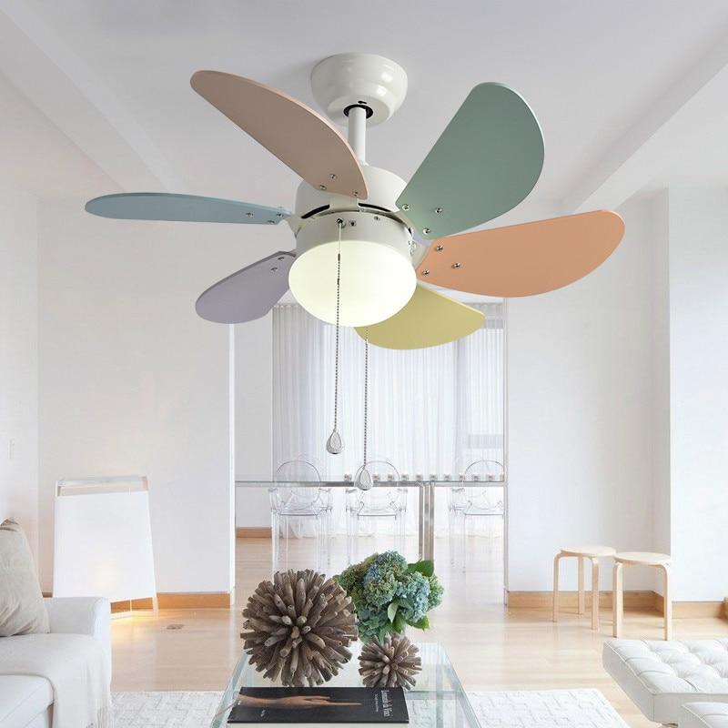 Eusolis Modern Led Ceiling Fan Room Fan Ceiling Led Lighting Kids  Ventilador Techo Infantil Verlichting Fan Armaturen