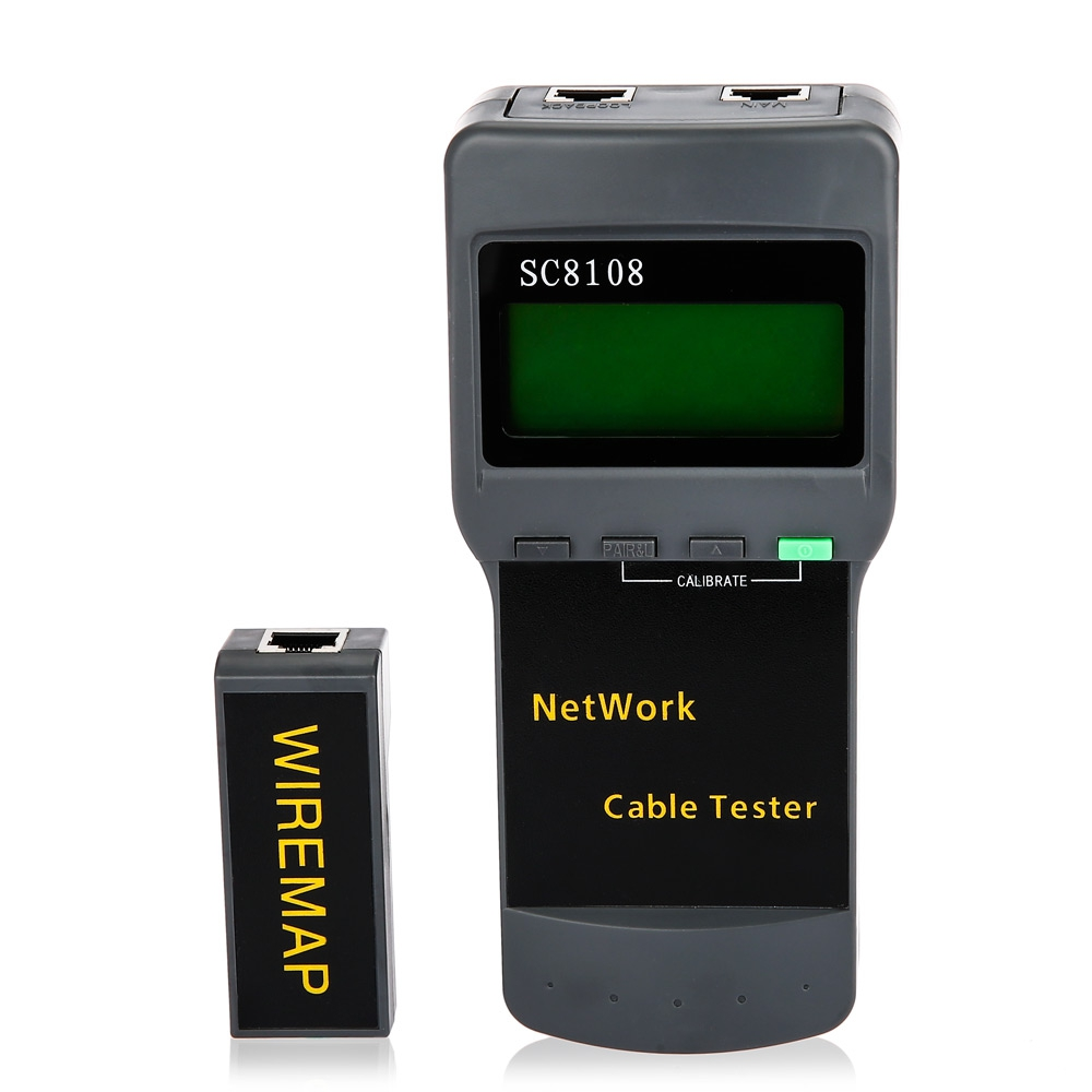 AUA SC8108 Network Cable Tester Check Line Breakpoint Length Rangefinder with LCD Display