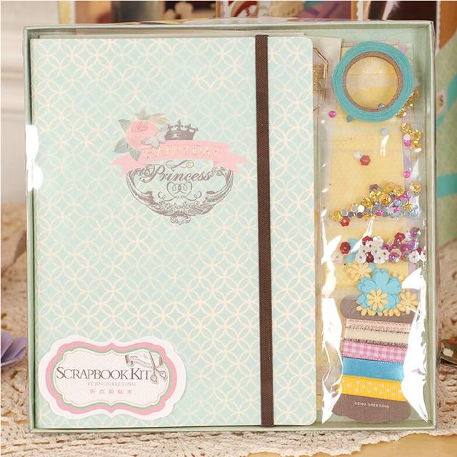 Memory Planner Retro Handmade Folding Scrapbook Kit For Kidsfamily