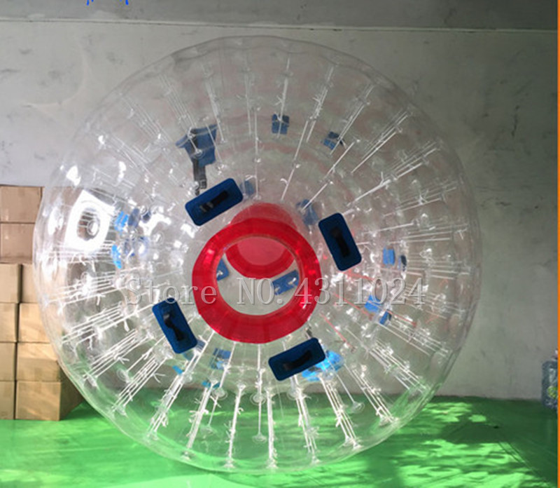 Livraison gratuite 1.0mm TPU gonflable corps Zorb balle 3 m Diar aire de jeux gonflable Zorb balle humaine Hamster balle viennent avec une pompe