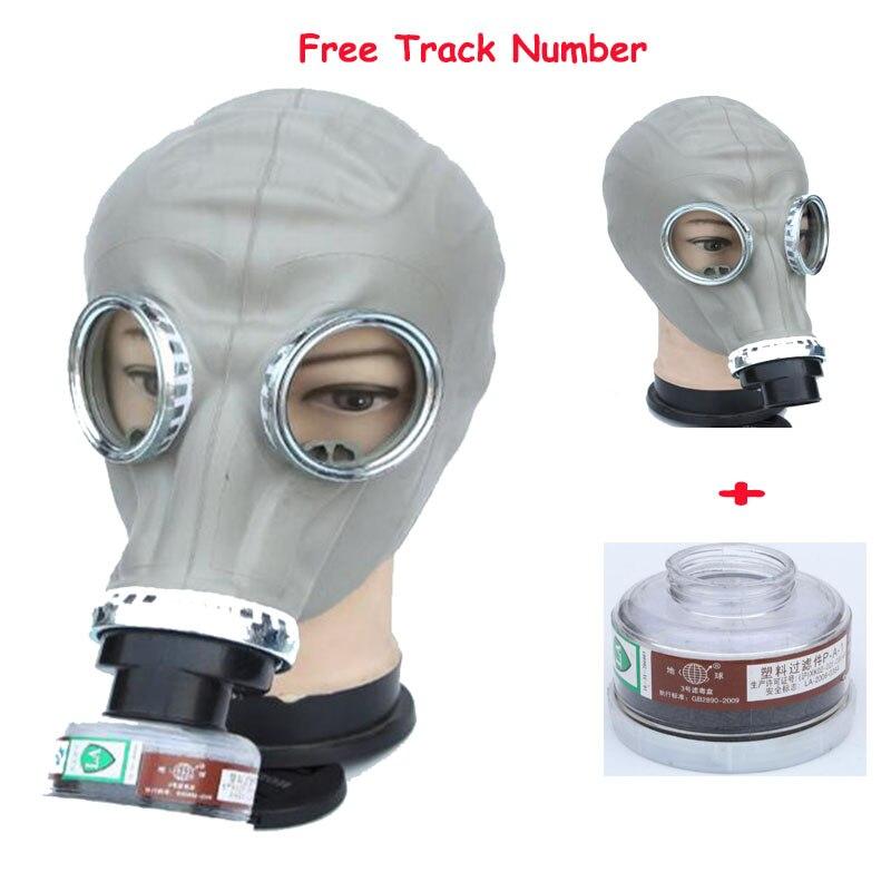2 dans 1 Pulvérisation De Peinture Militaire soviétique Russe gaz masque Chemcial Plein Visage Masque L'industrie Respirateur