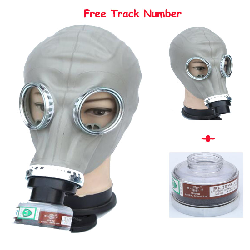 2 In 1 Paint Spraying Military Soviet Russian Gas Mask Chemcial Full Face Facepiece Industry Respirator