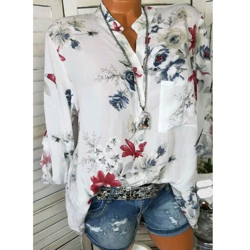 women blouse 2019 fashion print tops retro popular shirt plus size women shirts vintage ladies tops boho korean clothes gothic in Blouses amp Shirts from Women 39 s Clothing