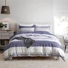 Home Textile Bed Linens 3pcs Bedding Sets Fashion Stripe Series Duvet Cover Set Mans Quilt Cover Bedclothes Boy Room Decoration