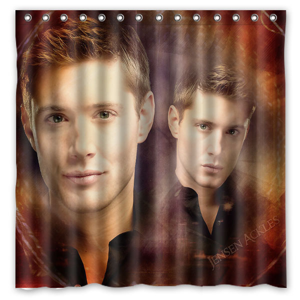 Jensen Ackles Pattern Creative Bath Shower Curtains Bathroom ...