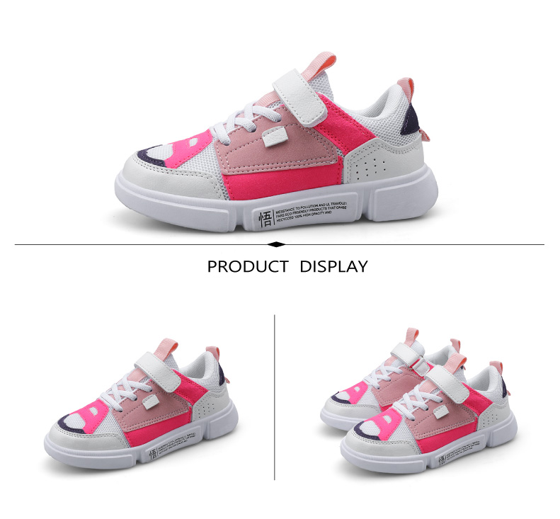 2019 Autumn New Girls Sneaker Kids Shoes Fashion Breathable Pink Leisure Sports Running Shoes For Boys Brand Casual Children Shoes (9)