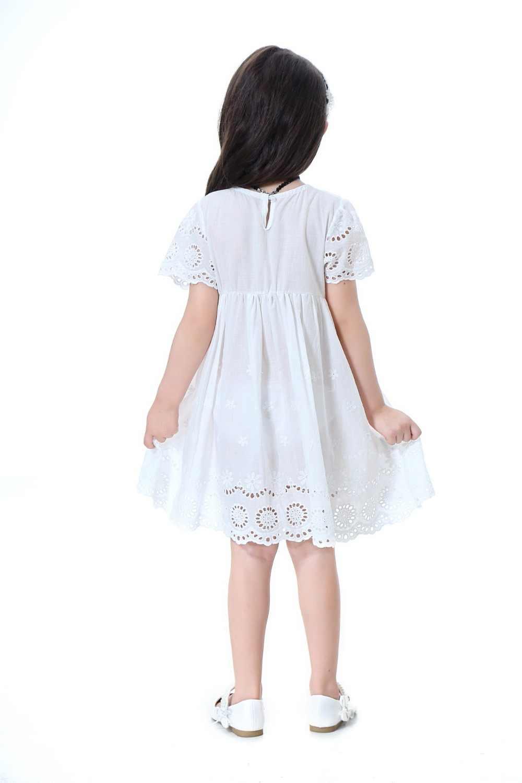 Платье для девочек, летнее хлопковое платье принцессы для девочек, Брендовое детское платье с вышивкой, милые красивые детские платья для девочек