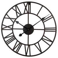 Vintage 76 cm 50cm Large Wall Clock Wrought Metal Industrial Iron Clock Watch Saat Classic Digital Clocks Relogio de Parede Klok