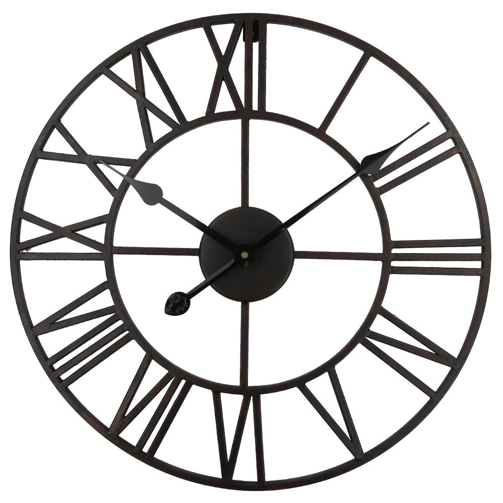 Vintage 80cm 50cm große Wanduhr Schmiedeeisen Uhr Uhr Saat Classic - Wohnkultur - Foto 1