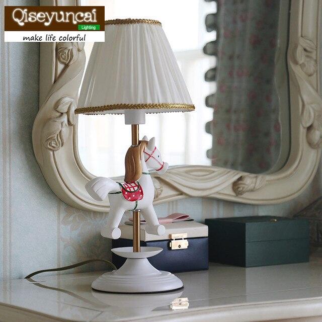 Qiseyuncai Children S Room Rotating Ballet Full Copper Table Lamp Bedroom Creative Dressing Bedside Lighting Free Shipping