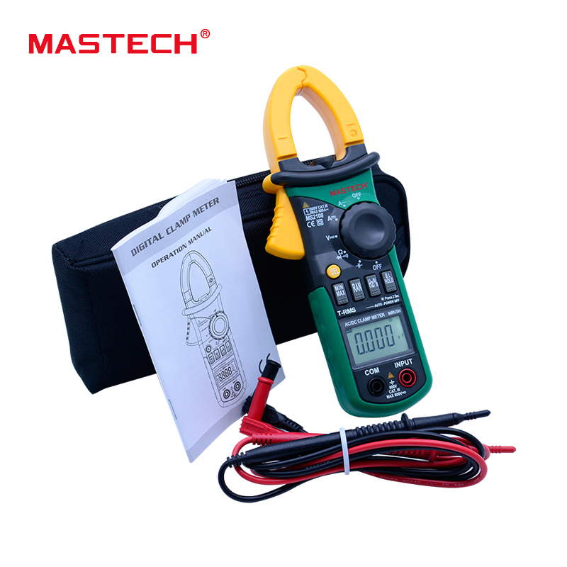 Multitester MASTECH MS2108 Digital Clamp Meter Multimeter 6600 Counts True RMS AC DC Capacitance Frequency Inrush Current Tester aimometer ms2108 true rms ac dc current clamp meter 6600 counts 600a 600v