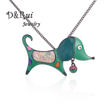 Enamel Animal Statement Necklace Pendant Alloy Enamel Dog Choker Necklace Chain Pendants Collar Fashion New Jewelry Women 2019