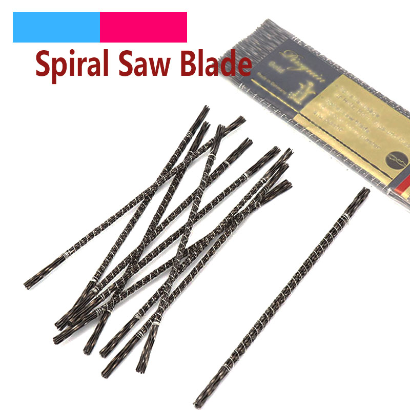 12pcs 130mm Scroll Jig Saw Blades Spiral Teeth 1-8 Kinds Wood Saw Blades Steel Wire Metal Cutting Hand Craft Tools For Carving
