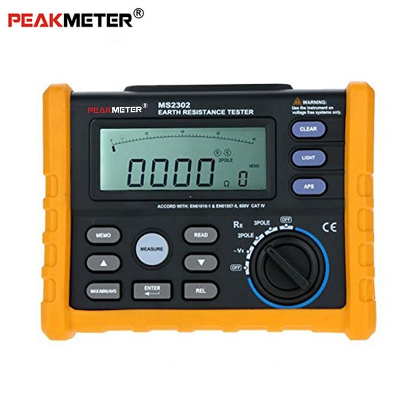 Peakmeter MS2302 Digital Earth Resistance Voltage Tester Meter