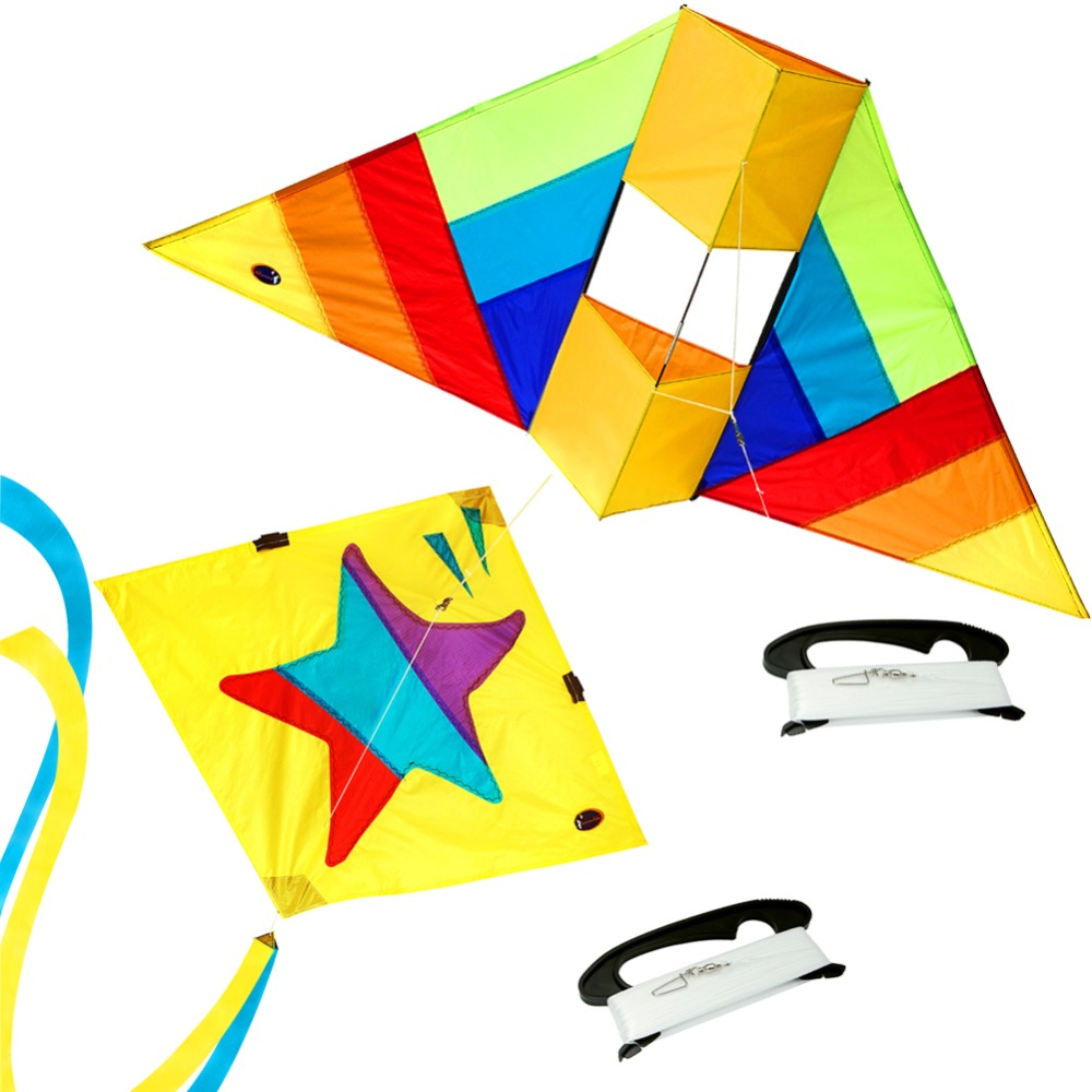 цена на 3D Animal Kite & Little Star Delta Kite Single Line Box Kite Flying with Kite String Line Kids Outdoor Toy
