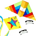 3D Animal Kite & Little Star Delta Kite Single Line Box Kite Flying with Kite String Line Kids Outdoor Toy