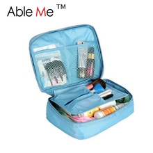 Hot Sale 2017 Nylon Multifunction Make Up Organizador Ourdoor Travel Bag Girls's Trousse De Maquillage Women Cosmetic Bags