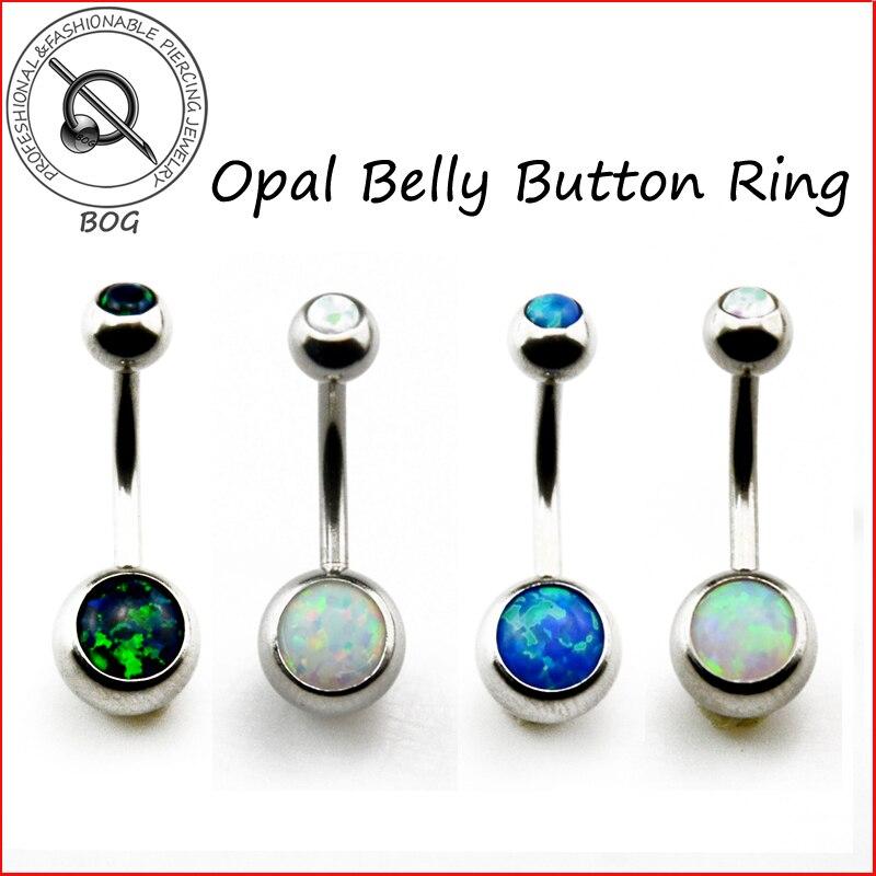 Begeistert Bog-1 Stück 316l Chirurgenstahl Opal Stein Bauchnabel Ring Nabel Bar Piercing Nombril Ombligo Körperschmuck 14g Schuhe