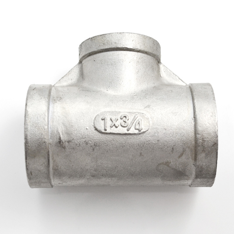 High Quality1X34X1 Female Tee Threaded Reducer Pipe Fittings FFF Stainless Steel SS304 New