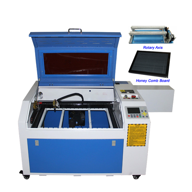 LY laser 6040 PRO 80W CO2 Laser Engraving Machine CNC Wood Laser Cutting Machine off-line system Honeycomb Table