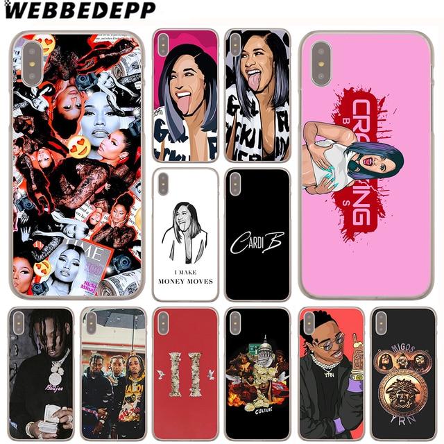 cheaper 69b8d 41da0 US $1.99 13% OFF|WEBBEDEPP Cardi B Migos Case for Apple iPhone 4 4S 5C 5S  SE 6 6S 7 8 Plus 10 X Xr Xs Max 6Plus 7Plus 8Plus-in Half-wrapped Case from  ...