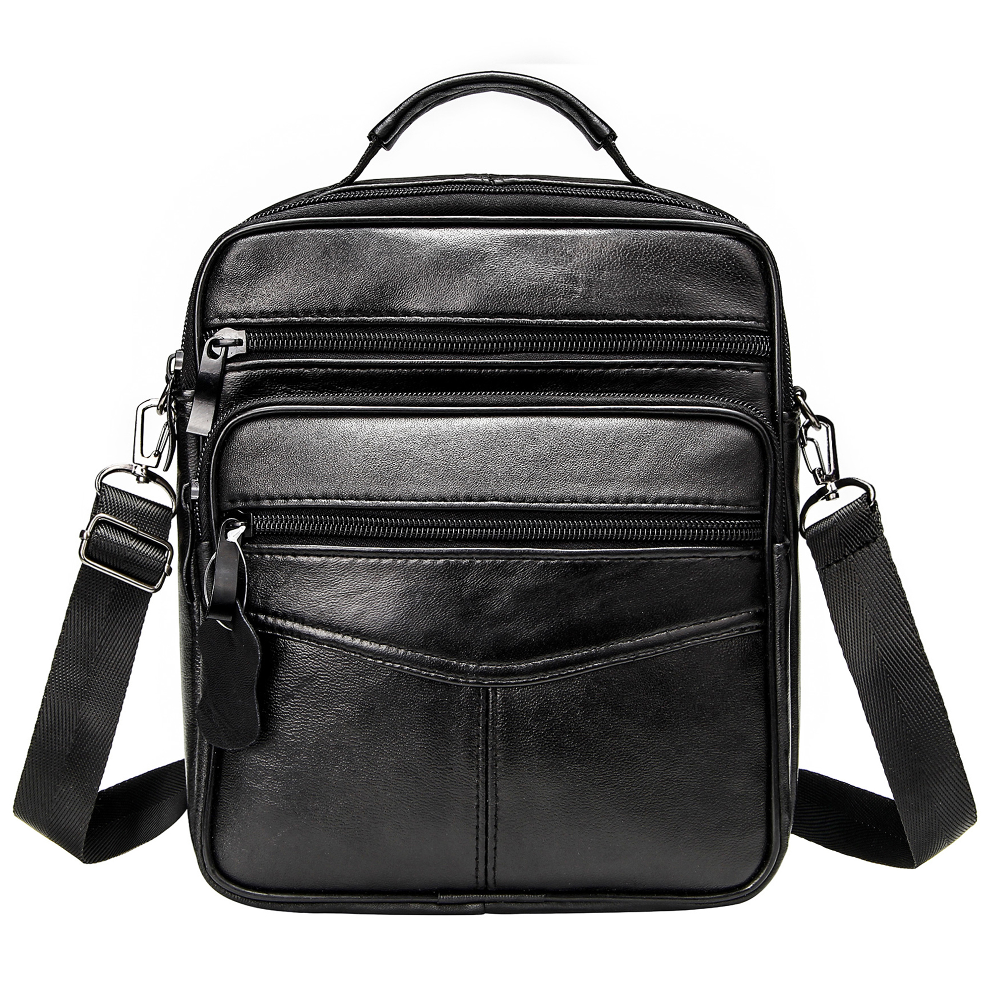 Leather Business Briefcase Men Portable Handbags Casual Black Shoulder Bags Men's Genuine Leather Messenger Bag For Male