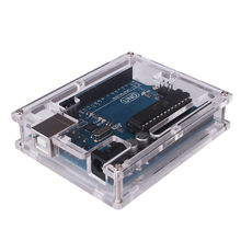 Glyduino Box for Arduino Uno R3 Transparent Cover Case Protector Shell
