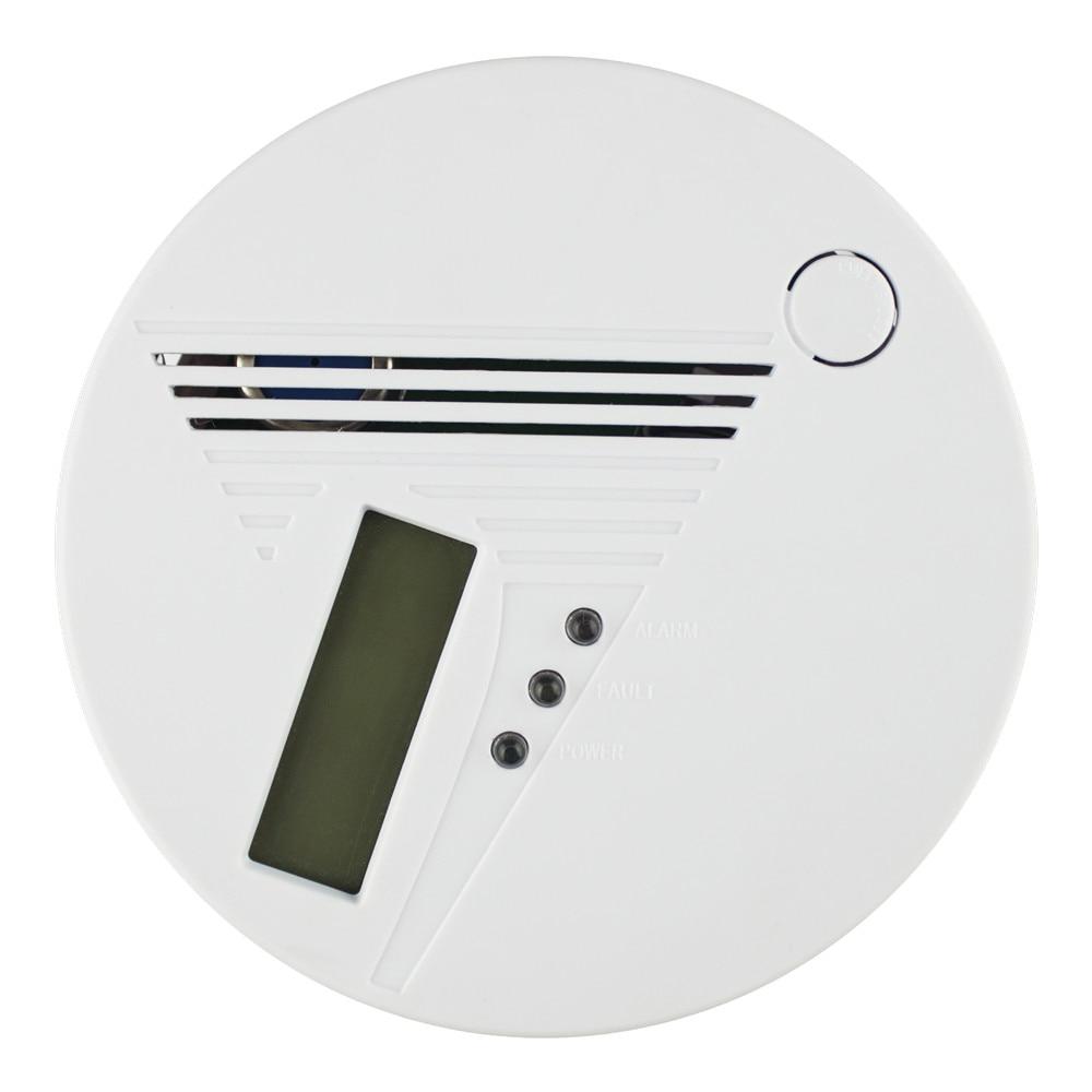 אזעקת פחמן חד חמצני אלחוטי (CO) עם צג LCD בזמן אמת אזעקה קולית ויזואלית עם הפרעות בתדר גבוה בתדר